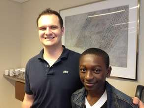 Zavonie with his mentor, a Chicago lawyer