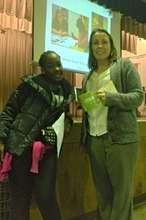 Amirah and Lindsey at Discovery Night