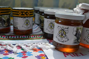 Jars of honey for sale