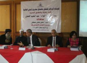 Speakers at Valuable Girl Project launch in Qena
