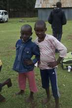 two of the Maasai girls we help protect