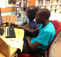Students visit the US Embassy resource center
