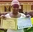 Secondary student Justine excelled at Girl Scouts