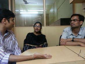 Manthan, Vidya & Nikhilesh at our Workshop@QMed
