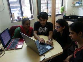 Vikramjeet, Rajavee and Prapti solving a query