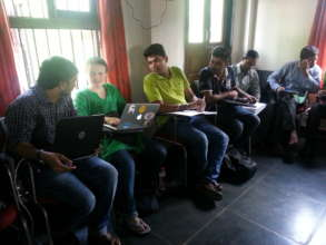 Youngsters working at JSS were enthusiastic!