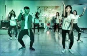 Street children show off modern dance moves
