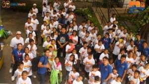 Over 100 street children showcased their talents