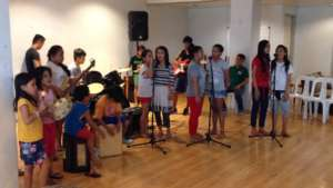 Street children hone their skills in music