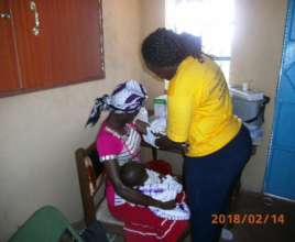 Kathambi (beneficiary) receiving FP services