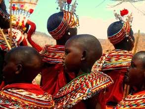 Samburu Women and Children Ceremonial Dance