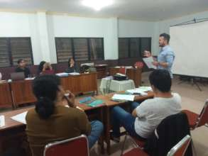 Teaching activity presented by TLF refugee alumni