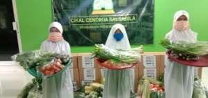 Orphans children receive TLF organic vegetables