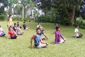 Healthy Body & Healthy Mind - doing yoga