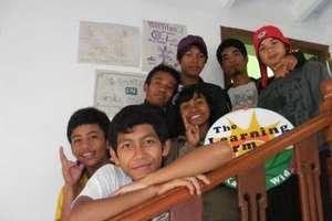 Happy at the dormitory