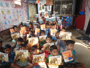 Children received books as a gift!