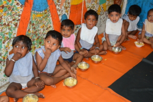 Children enjoying meal at our centre!