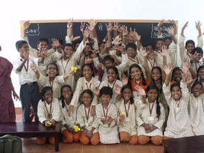 Isha Vidhya students - in a new class room!