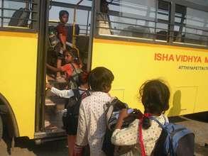 Isha Vidhya school bus