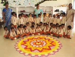 Onam celebrations at Isha Vidhya school