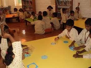 Isha Vidhya school math lab