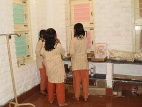 Isha Vidhya school science lab