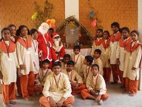 Christmas celebrations at Isha Vidhya school