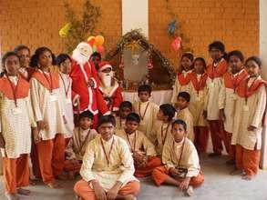 Christmas celebrations at Isha Vidhya school