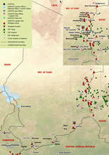 Map of Darfur Refugee Camps