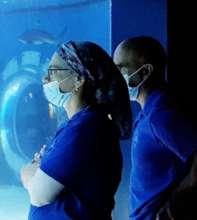 Aquarium Team with masks