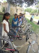 Group of Girls with Bicycle