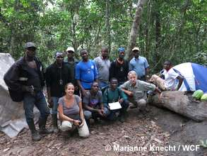 Eco-guide team in Proposed Grebo National Forest