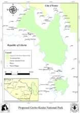 Map of Grebo-Krahn National Park