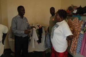 Amwonya Girls Makes Uniforms for Bung ECDC
