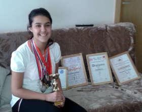 Natalija with her most treasured trophy