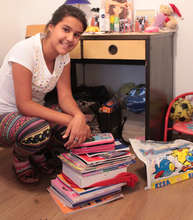 Natalija with new textbooks