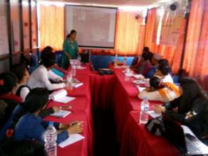 Participants attending training