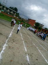 Running at paralympic game