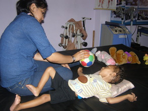 new physiotherapist in action