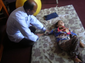 PCBR staff providing physio