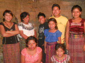 Magdalena and her family.