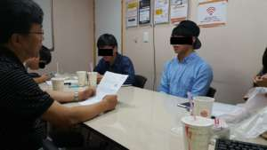 Mock interview session for North Korean students