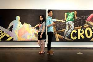 North Korean students featured in art exhibition