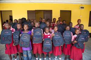 "Backpacks Earned Through Our ""Reading Challenge"""