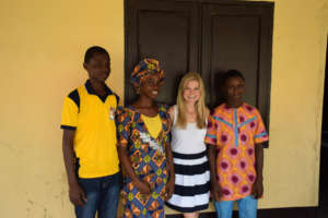 Megan with Gabriel, Margaret and Tosin