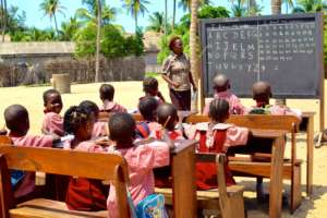Lady Salami Teaching a Primary Class