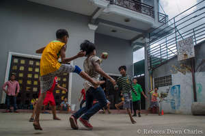 Games in the courtyard
