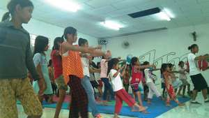 Dance class in session