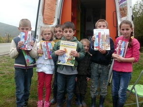 Some children with their School Sets