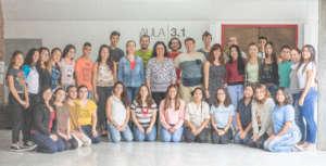 Team of teachers and monitors